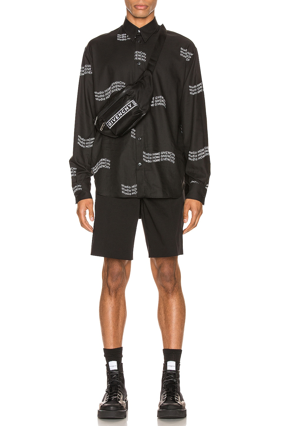 Image 5 of Givenchy Shorts in Black