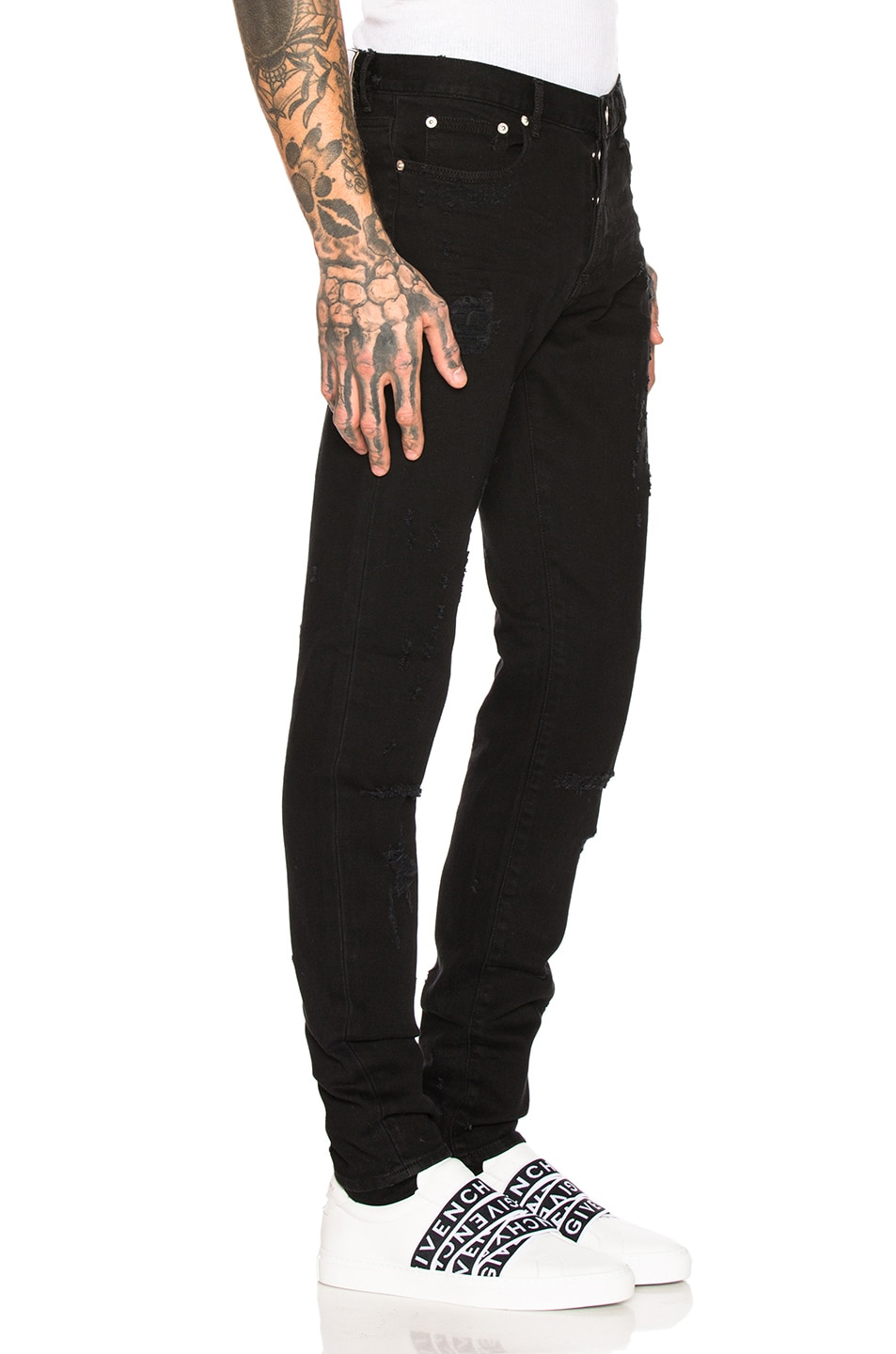 Image 2 of Givenchy Distressed Jeans in Black