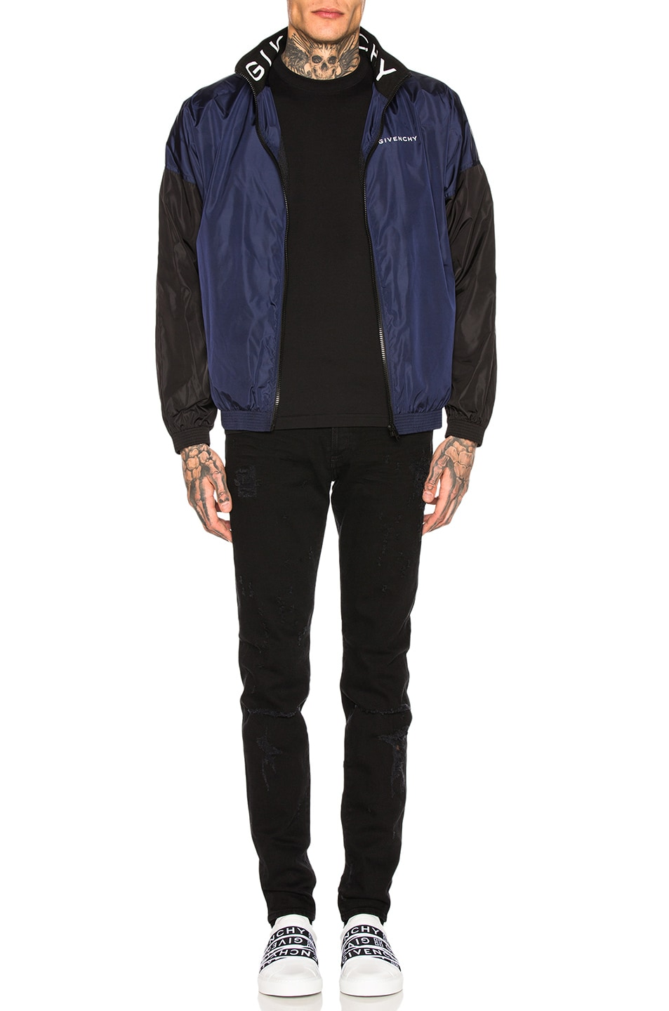 Image 4 of Givenchy Distressed Jeans in Black