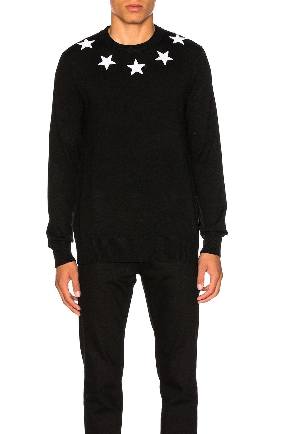 875f7c8f0a017 Image 1 of Givenchy Wool Pullover in Black   White
