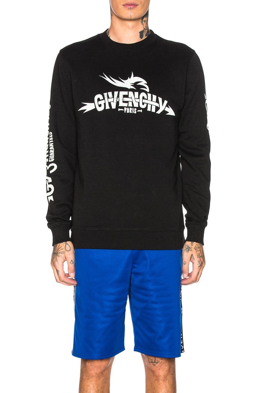 Image 1 of Givenchy Logo Sweatshirt in Black