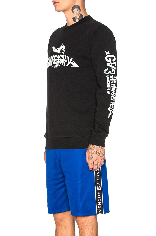 Image 3 of Givenchy Logo Sweatshirt in Black