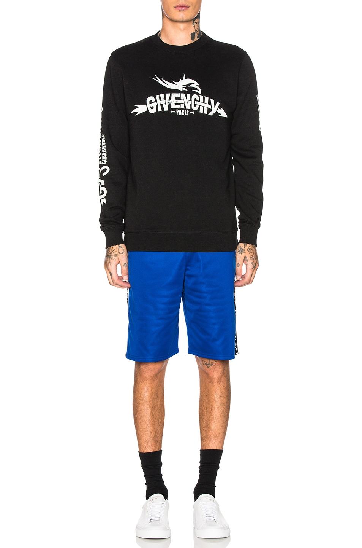 Image 5 of Givenchy Logo Sweatshirt in Black