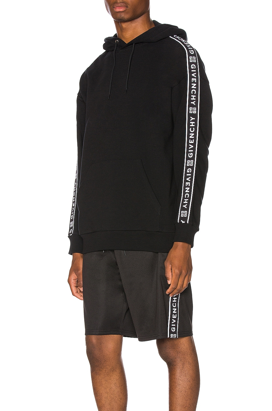 Image 1 of Givenchy Logo Bands Hoodie in Black