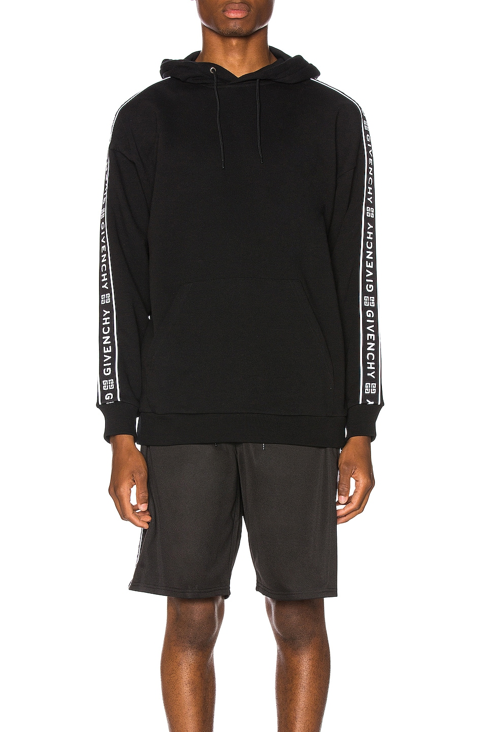 Image 2 of Givenchy Logo Bands Hoodie in Black