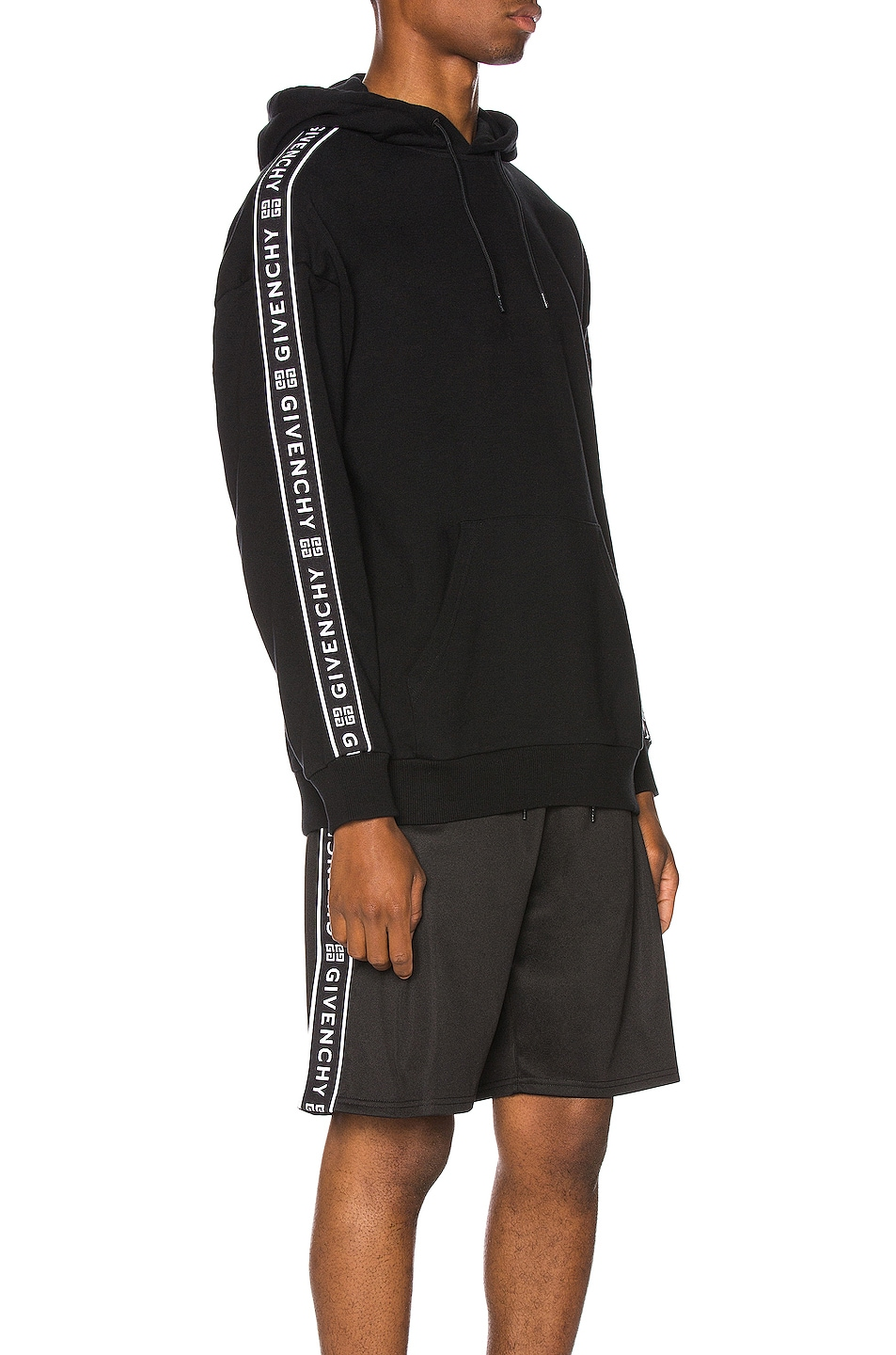 Image 3 of Givenchy Logo Bands Hoodie in Black