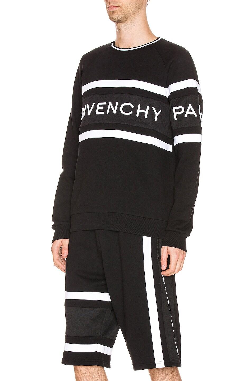 Image 3 of Givenchy Band Sweatshirt in Black & White