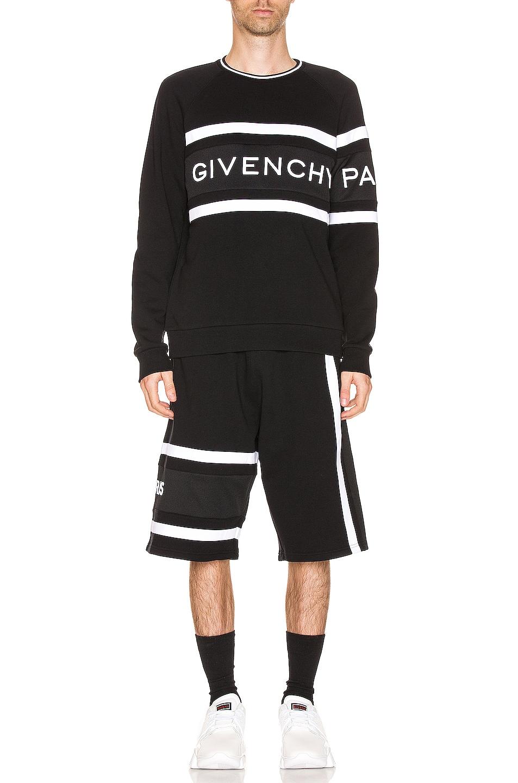 Image 5 of Givenchy Band Sweatshirt in Black & White