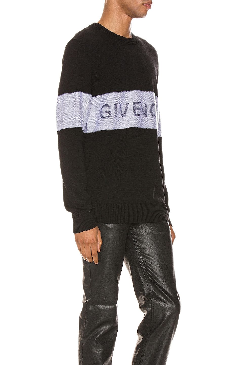 Image 2 of Givenchy Crewneck in Black & White