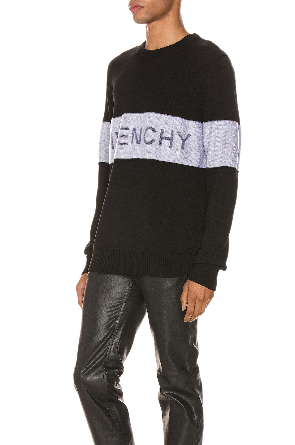 Image 3 of Givenchy Crewneck in Black & White
