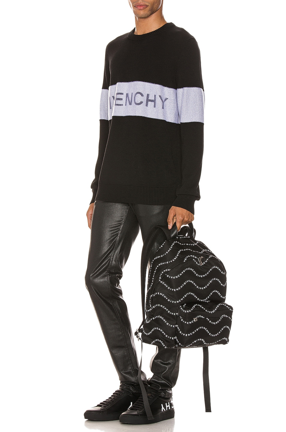 Image 5 of Givenchy Crewneck in Black & White