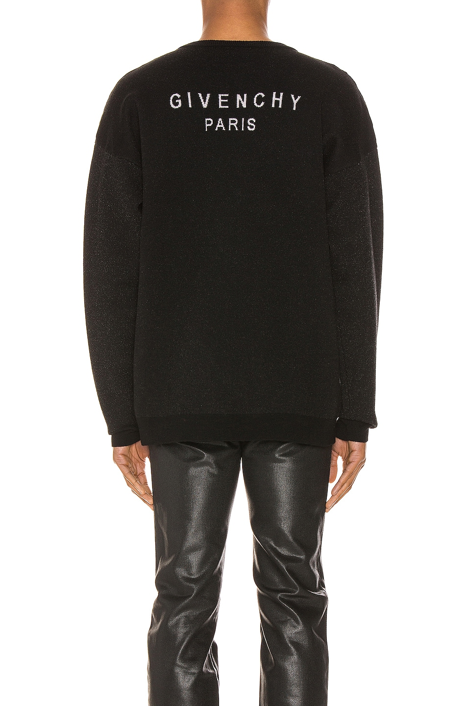 Image 3 of Givenchy Crew Neck Sweater in Black & Grey