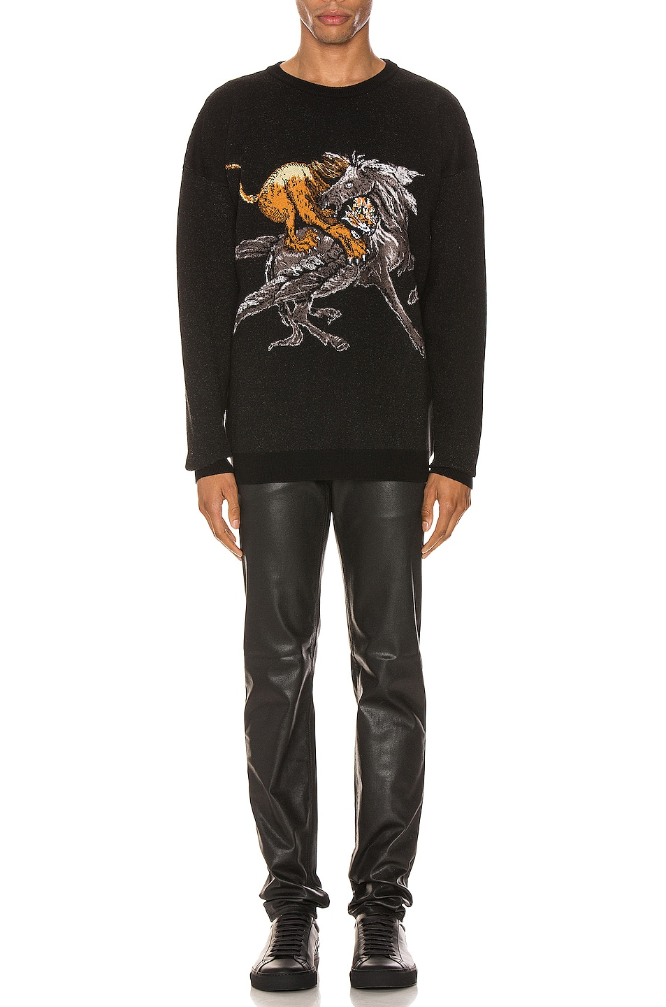 Image 4 of Givenchy Crew Neck Sweater in Black & Grey