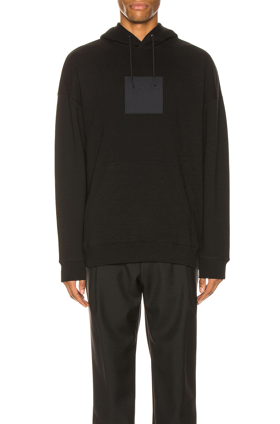 Image 1 of Givenchy Debossed Patch Hoodie in Black