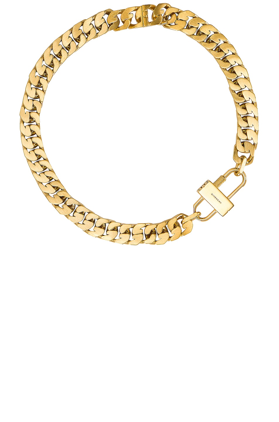Image 1 of Givenchy G Chain Lock Small Necklace in Golden Yellow