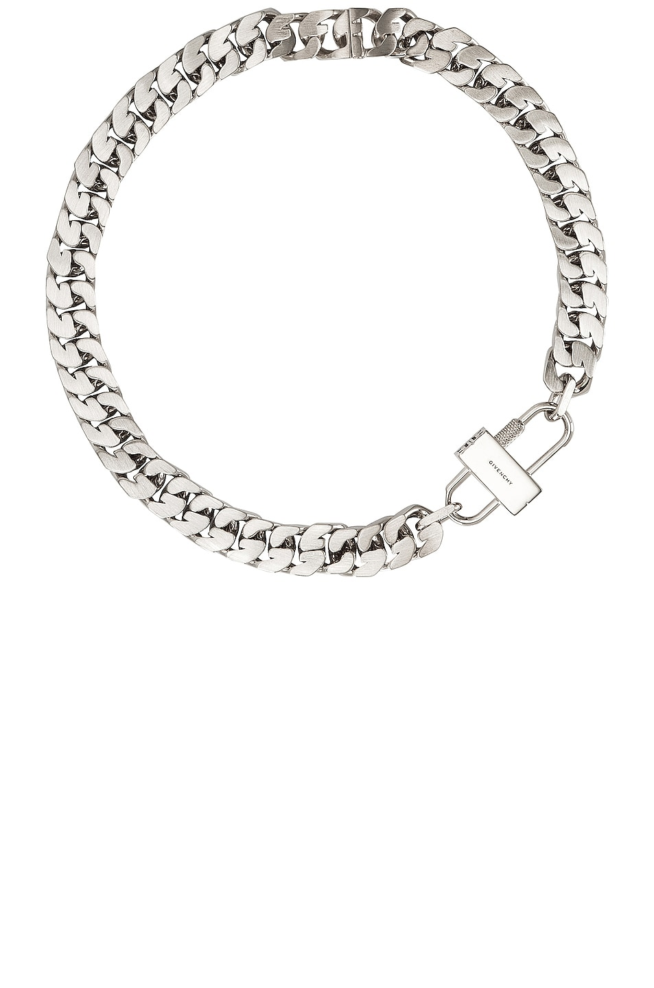 Image 1 of Givenchy G Chain Lock Small Necklace in Silvery
