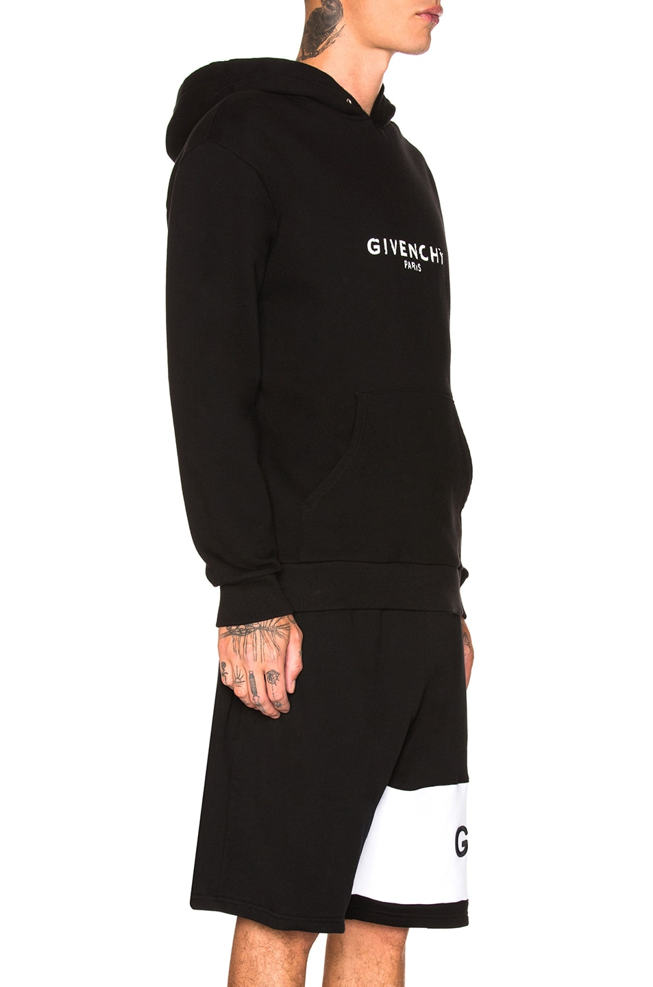 Image 2 of Givenchy Logo Hoodie in Black