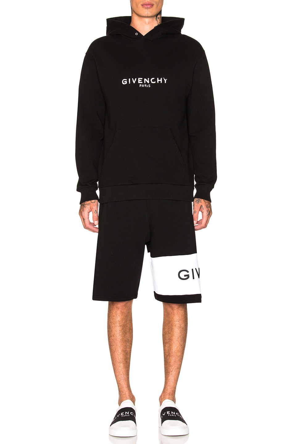 Image 4 of Givenchy Logo Hoodie in Black