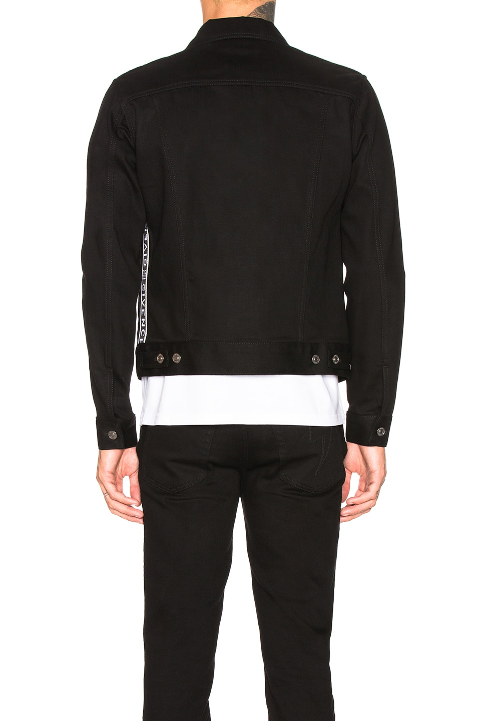 Image 3 of Givenchy Taping Denim Jacket in Black