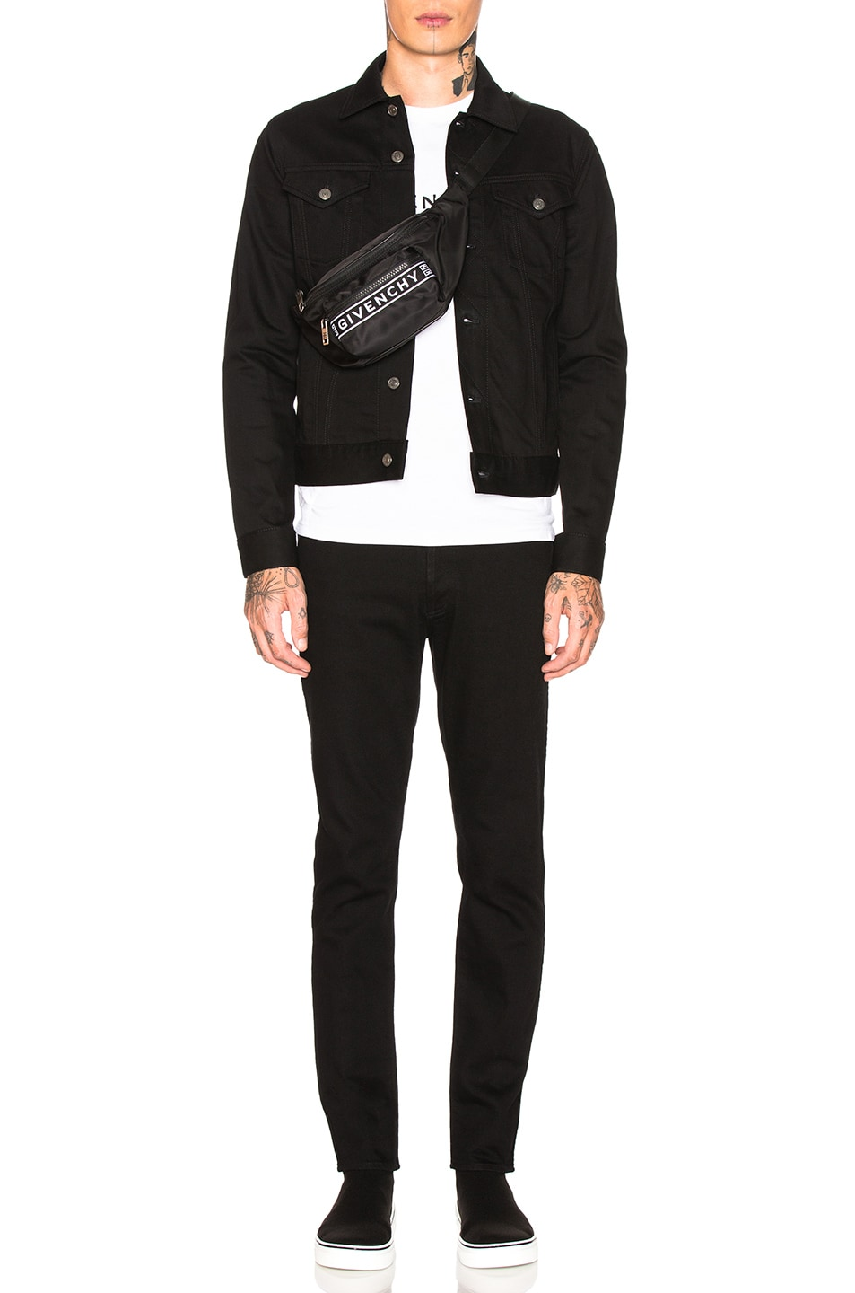 Image 5 of Givenchy Taping Denim Jacket in Black