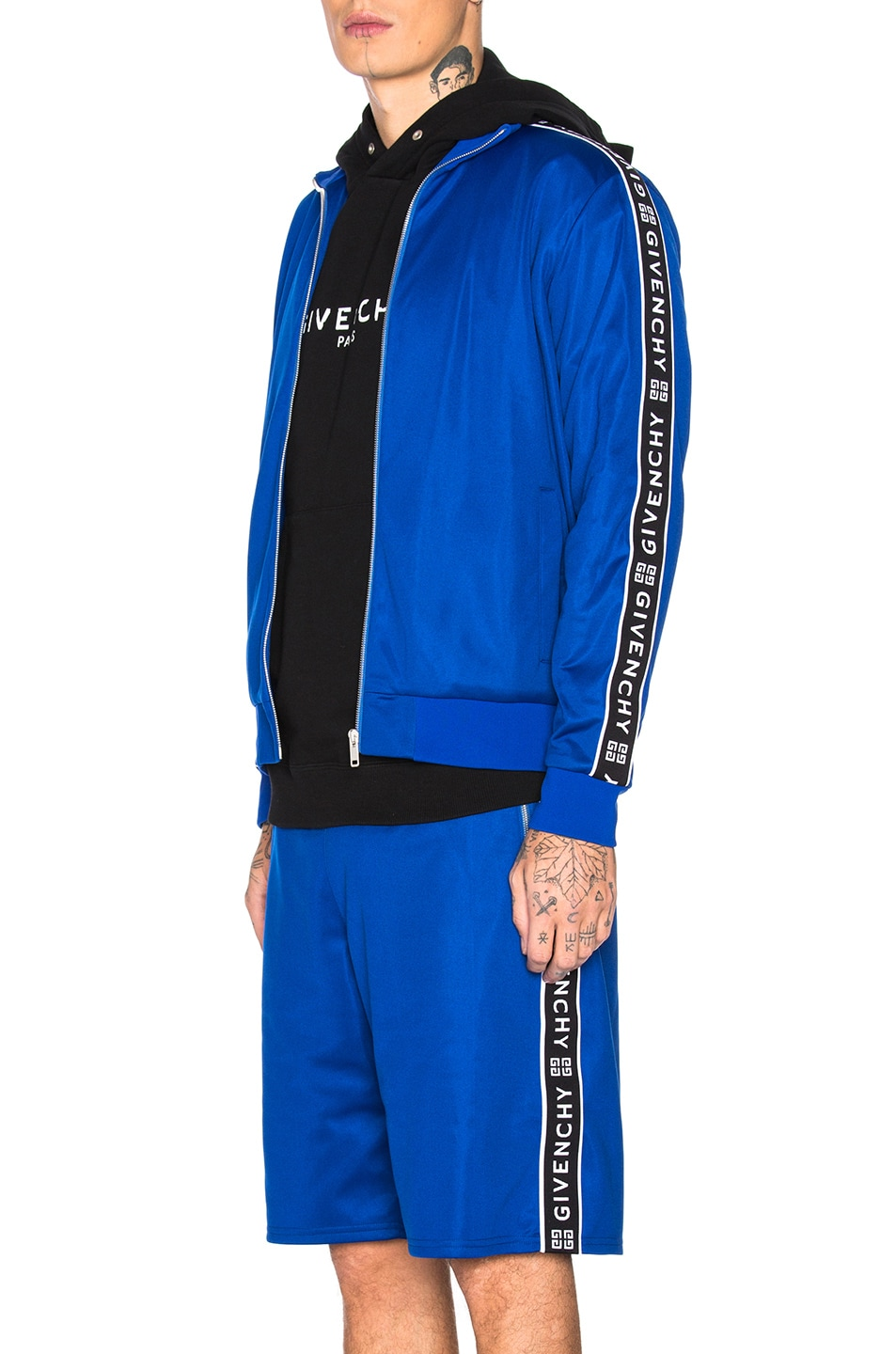 Image 1 of Givenchy Tape Track Jacket in Electric Blue