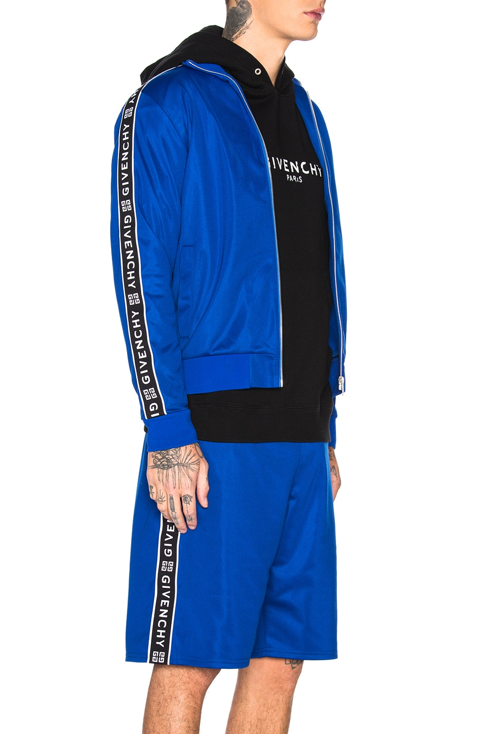 Image 4 of Givenchy Tape Track Jacket in Electric Blue