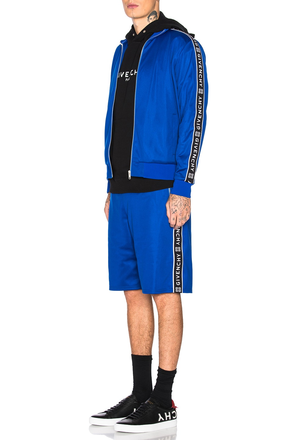 Image 6 of Givenchy Tape Track Jacket in Electric Blue
