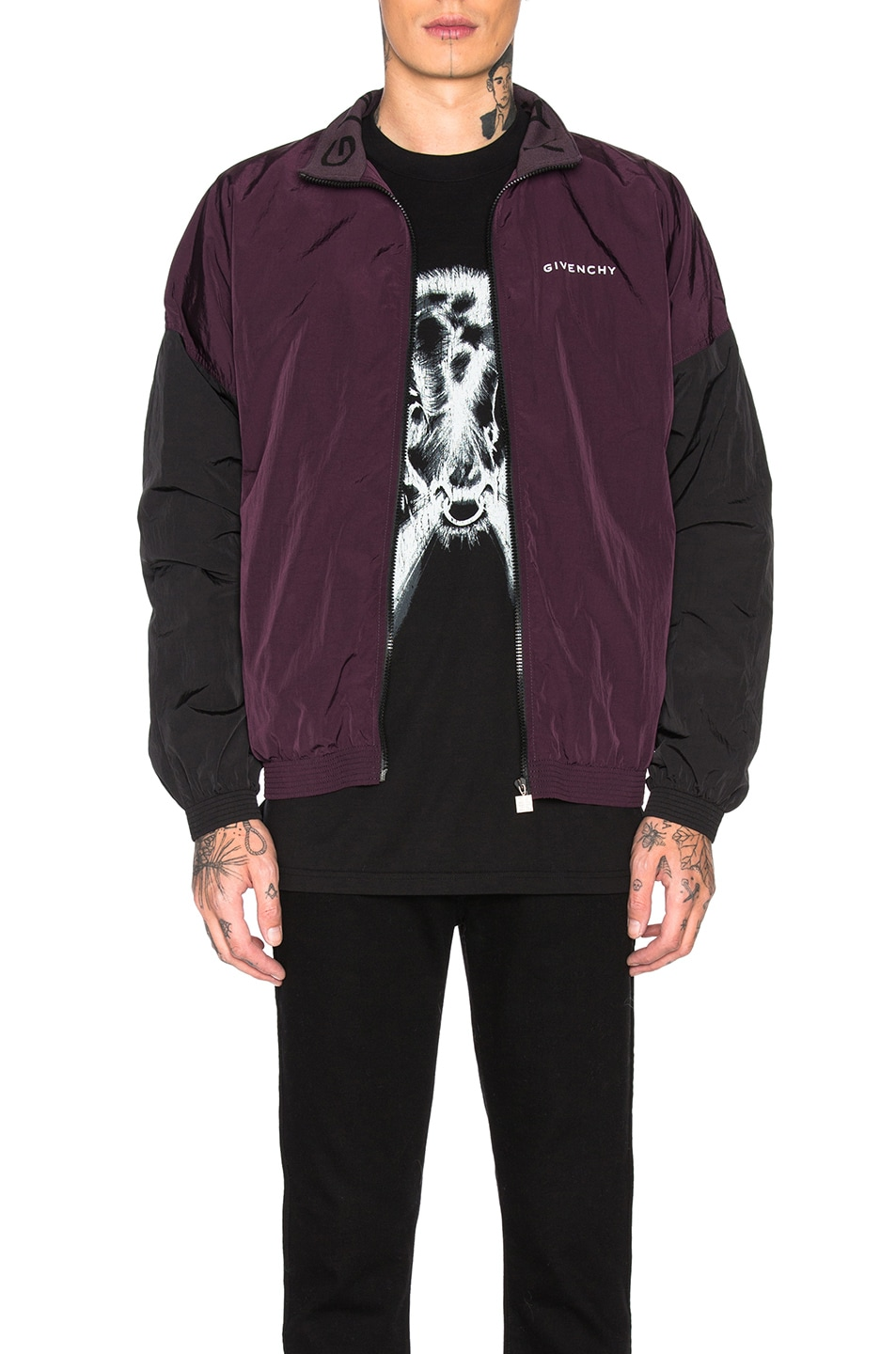 Image 1 of Givenchy Track Jacket in Dark Purple