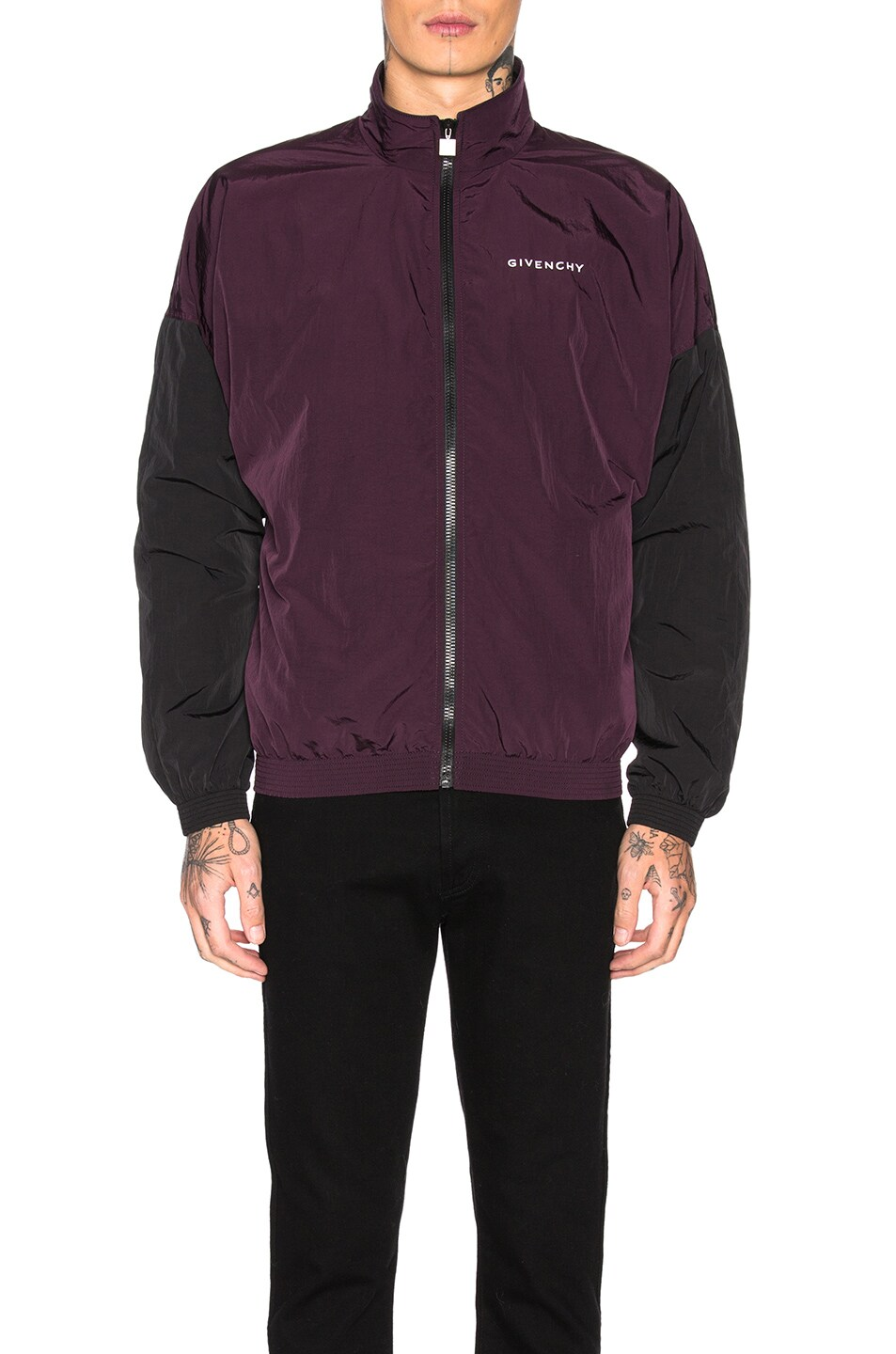 Image 2 of Givenchy Track Jacket in Dark Purple