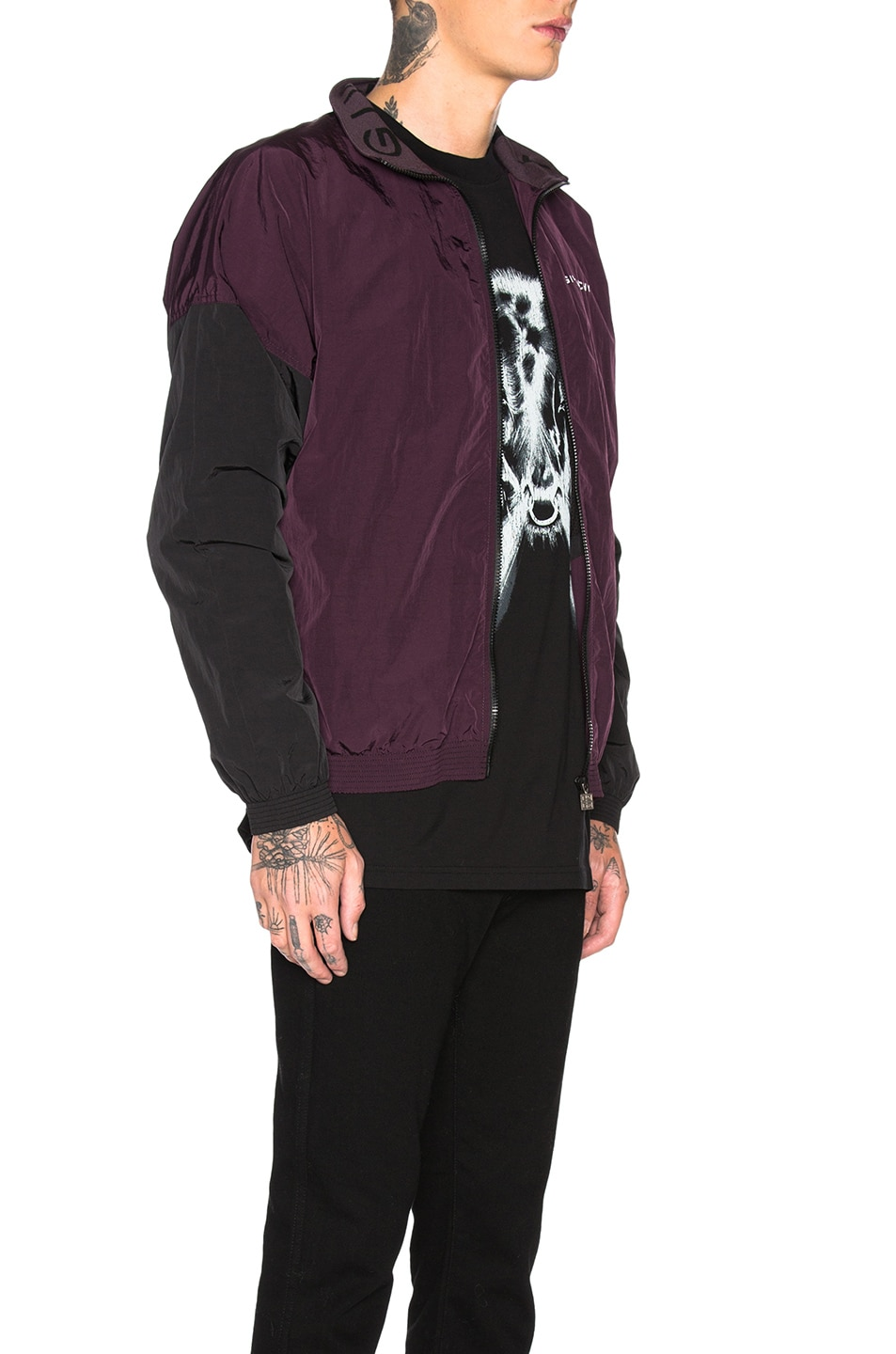 Image 3 of Givenchy Track Jacket in Dark Purple
