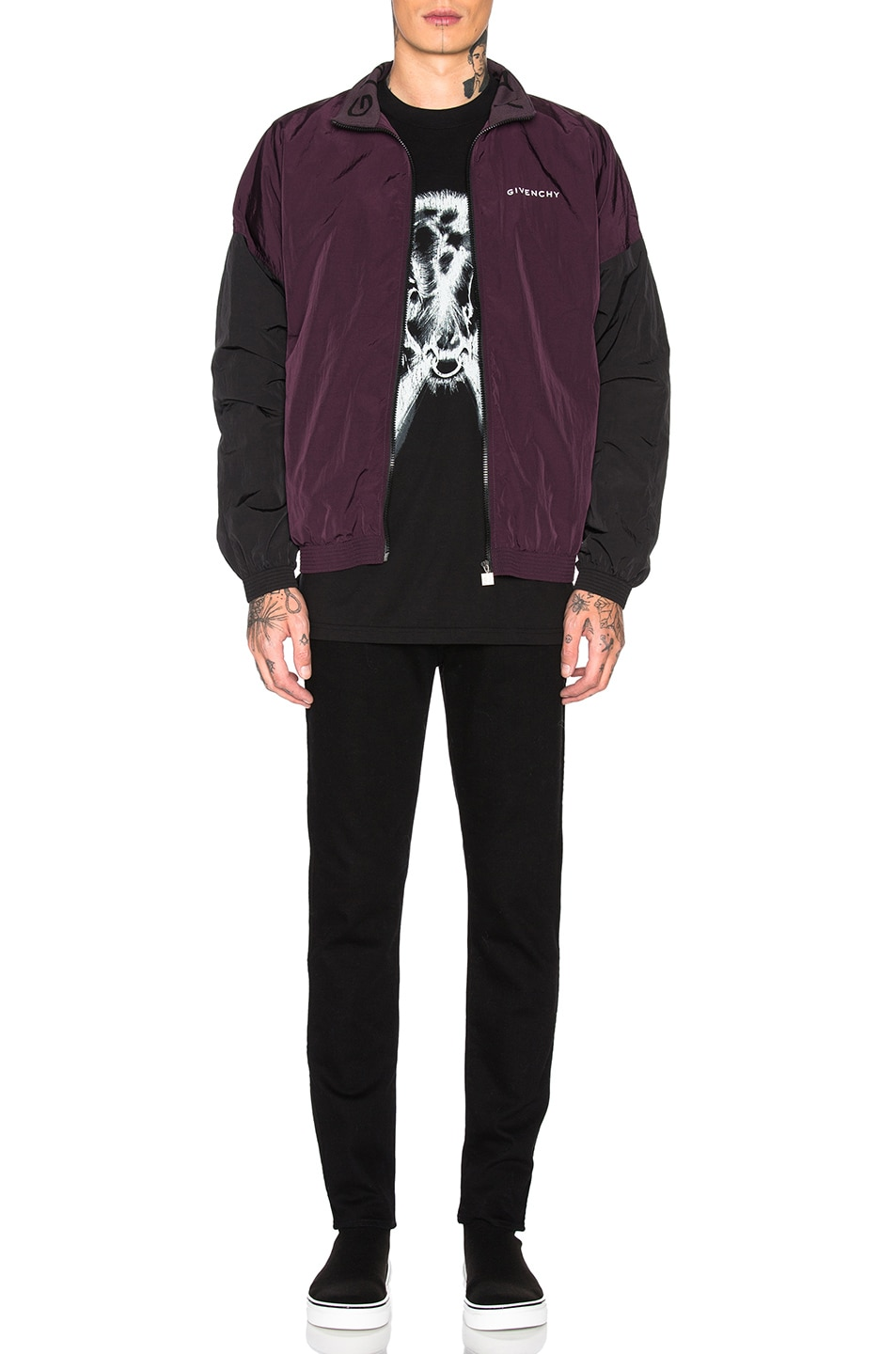 Image 5 of Givenchy Track Jacket in Dark Purple