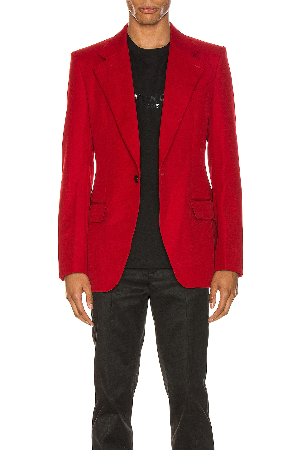 Image 2 of Givenchy Structured Jacket in Red
