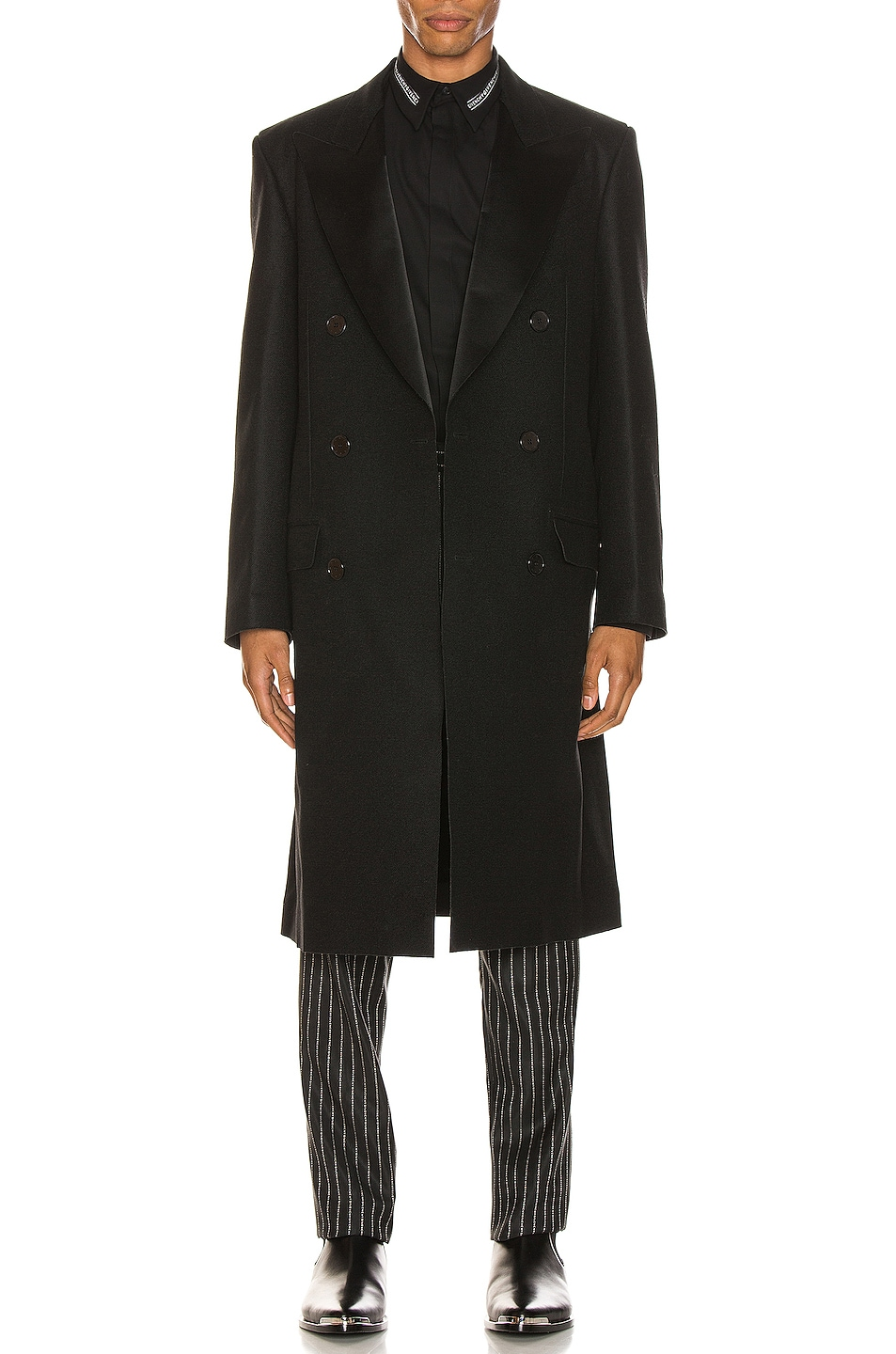 Image 1 of Givenchy Long Coat in Black