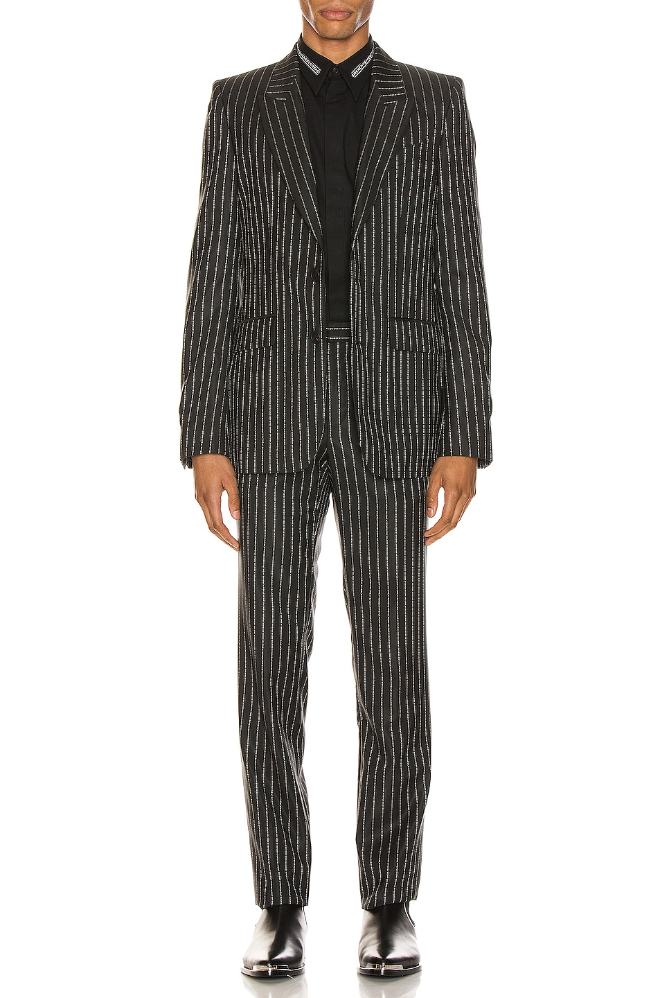 Image 2 of Givenchy Blazer & Trouser Suit in Black & White