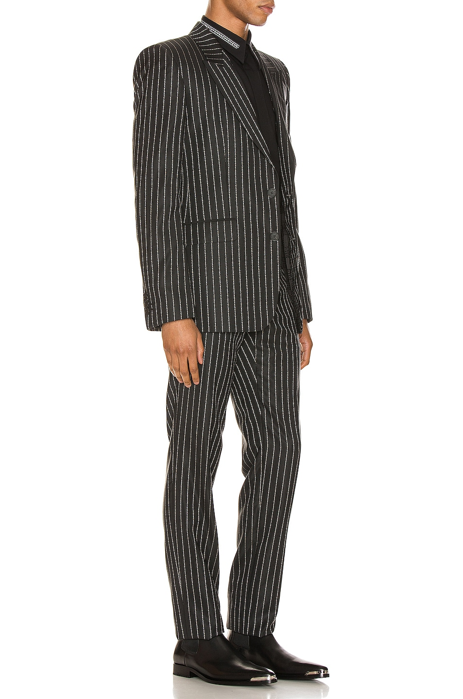 Image 3 of Givenchy Blazer & Trouser Suit in Black & White