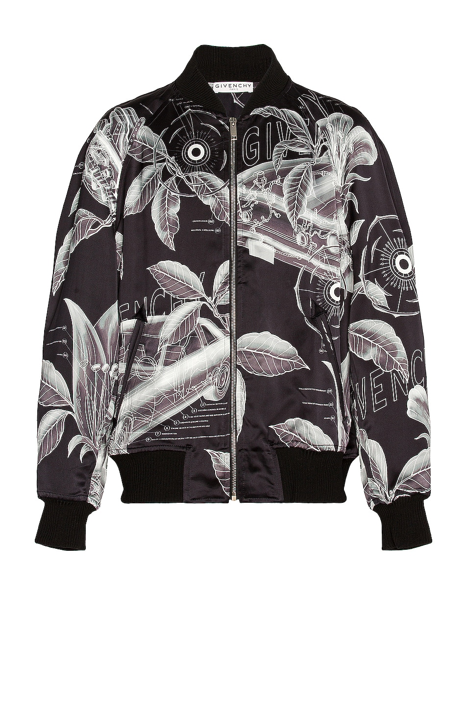 Image 1 of Givenchy Souvenir Bomber Jacket in Black