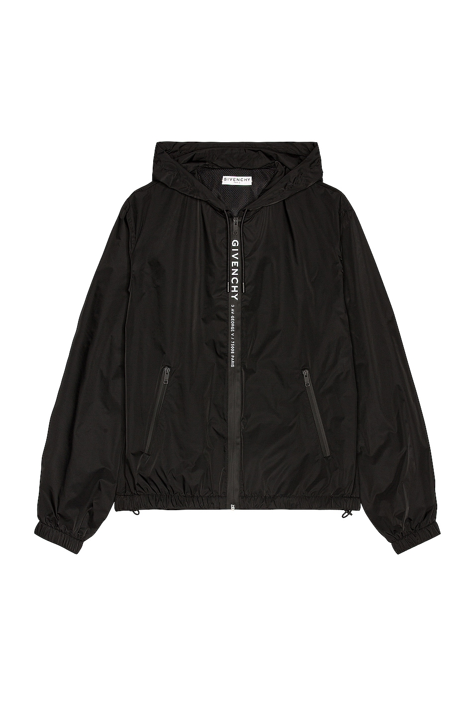 Image 1 of Givenchy Zipped Windbreaker in Black