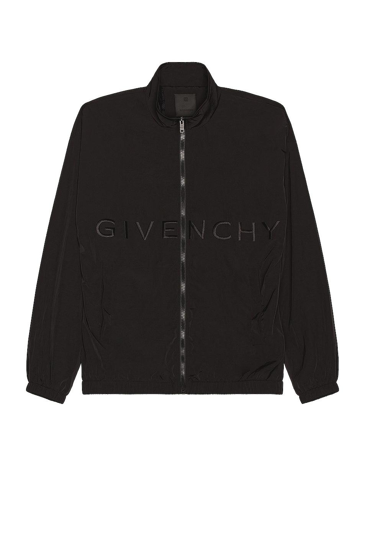Image 1 of Givenchy Woven Nylon Jacket in Black