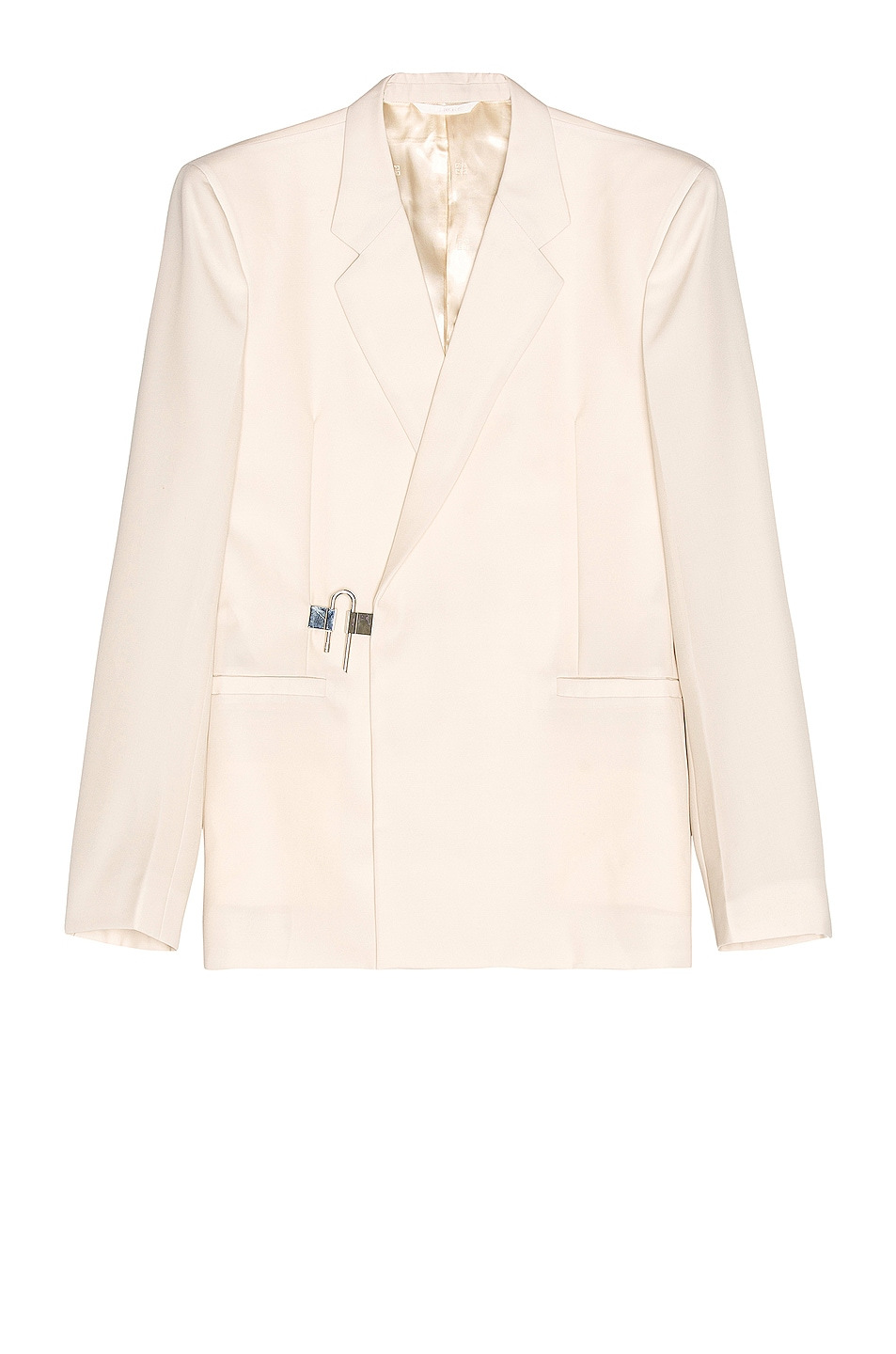 Image 1 of Givenchy Woven Padlock Dry Wool Jacket in Dust Grey