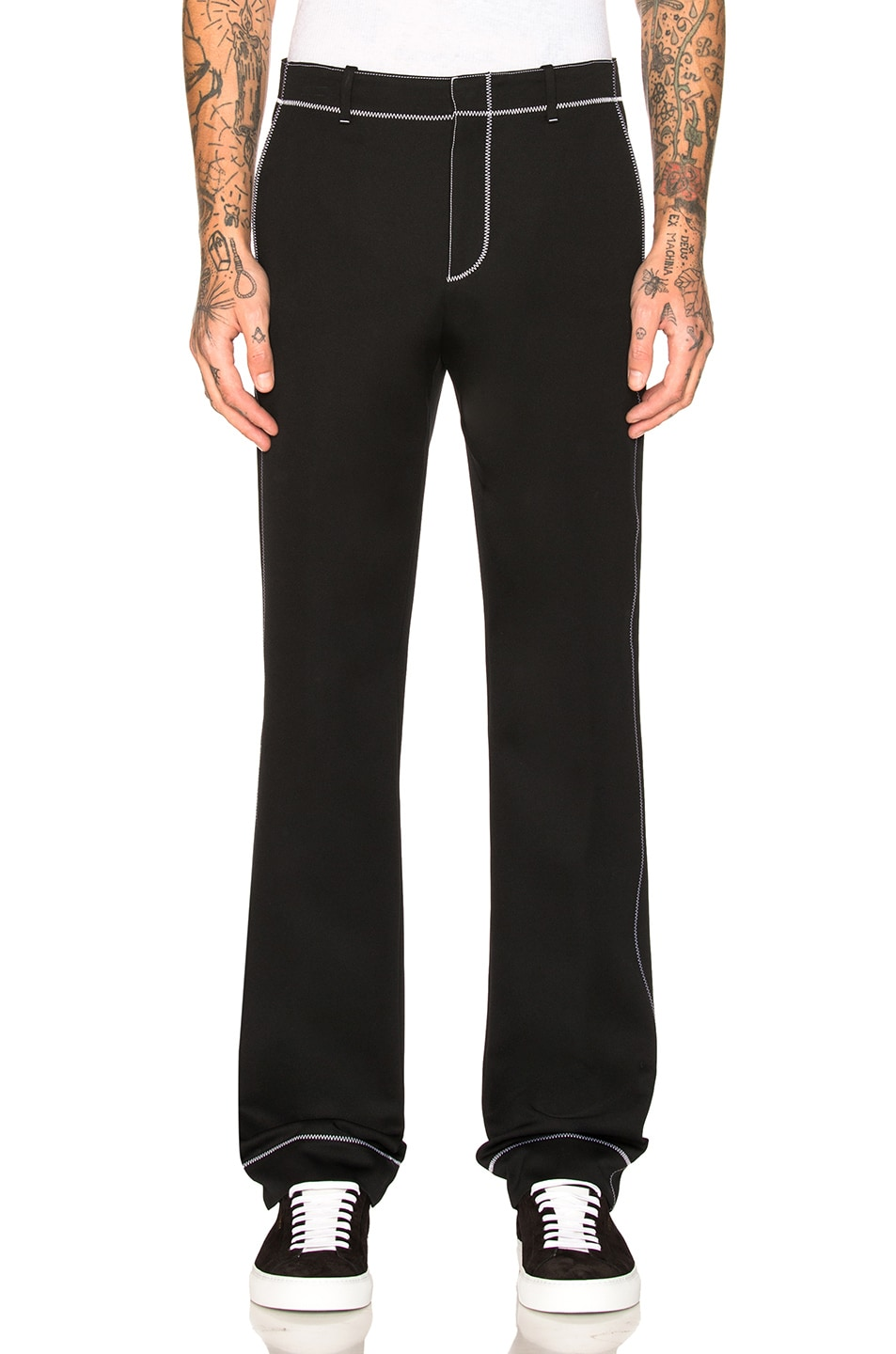Contrast Stitch Trousers in Black Givenchy Cheap Sale Low Shipping Free Shipping 2018 Discount Outlet Locations YDT0fog