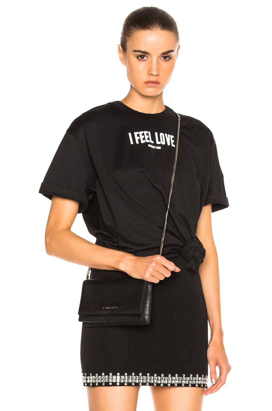 Image 1 of Givenchy Logo Tee in Black