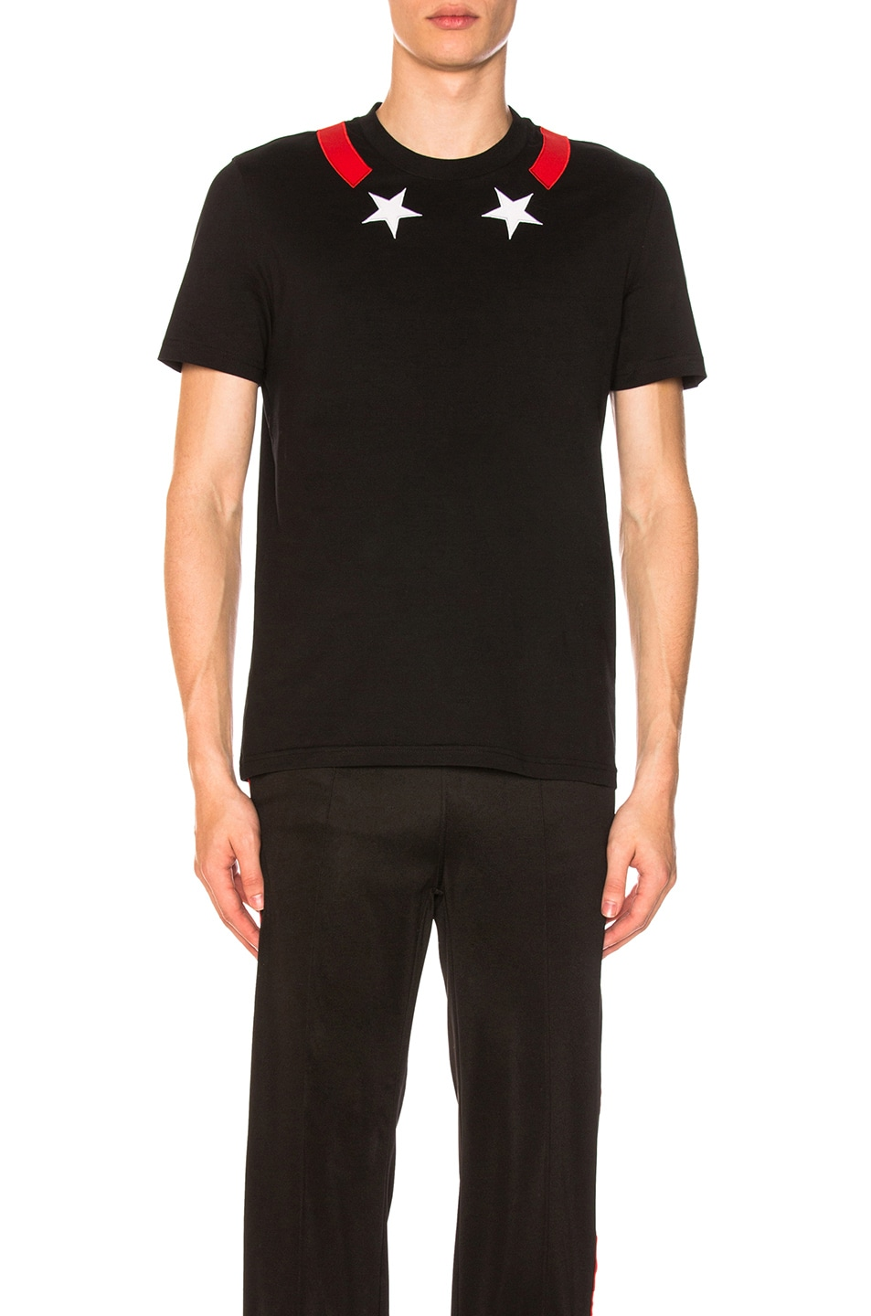 009a9466 Image 1 of Givenchy Star Neck T-Shirt in Black