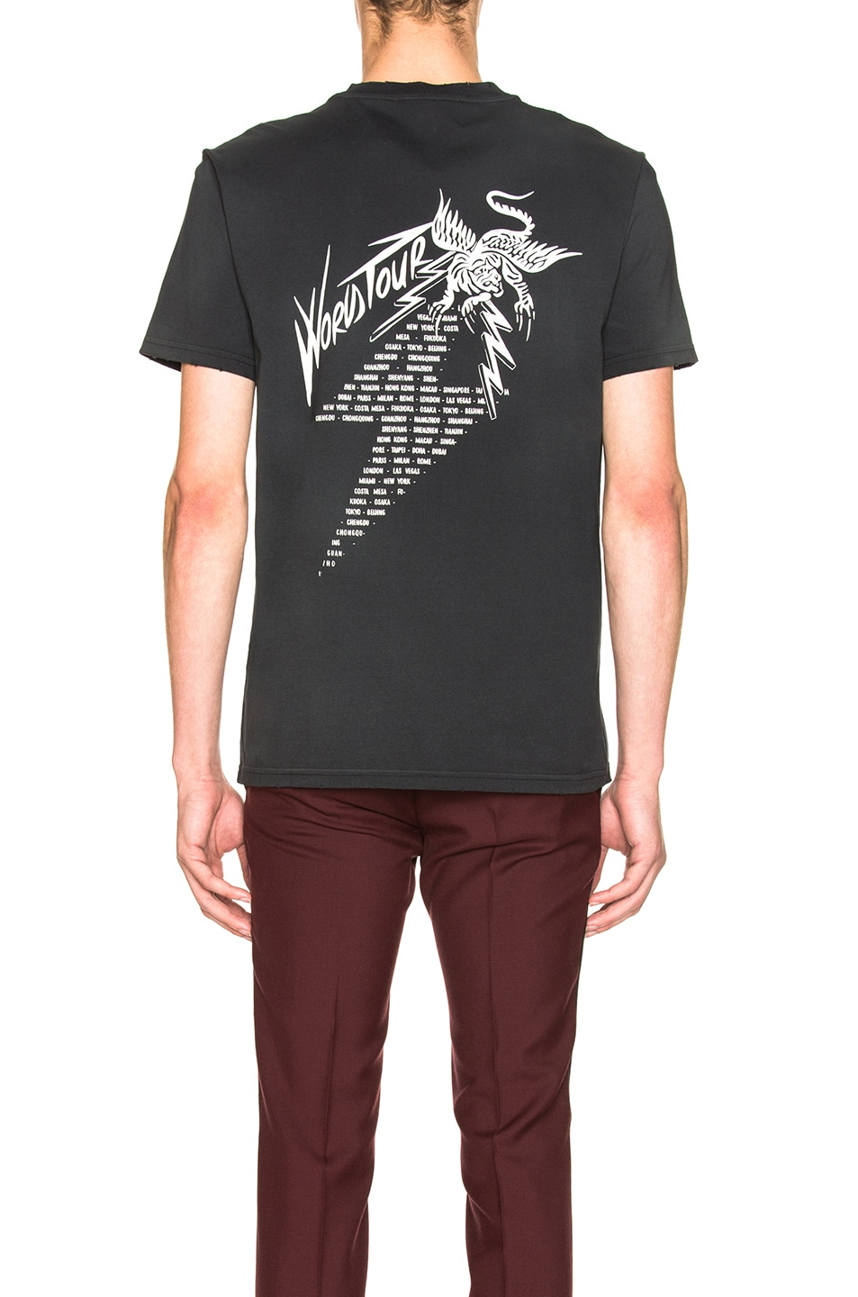Image 3 of Givenchy World Tour Tee in Black