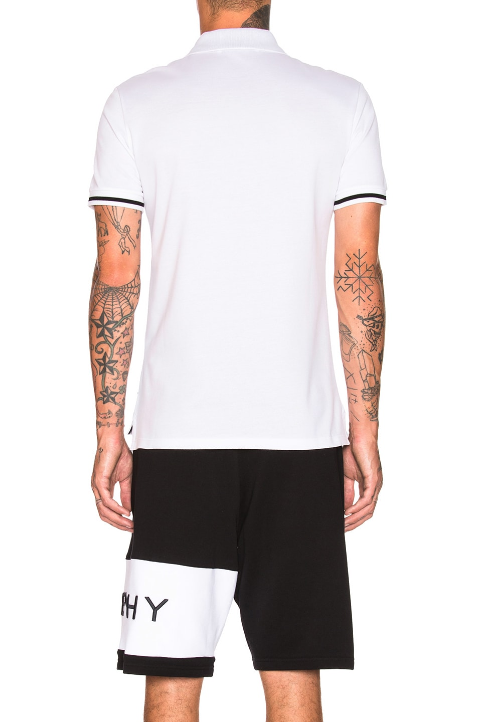 Image 4 of Givenchy Lightning Bolt Polo in White & Black