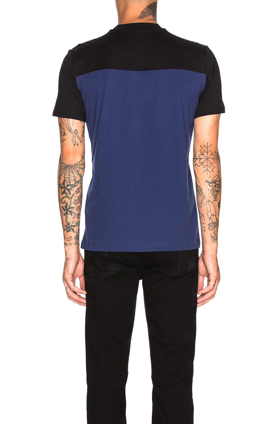 Image 3 of Givenchy Towel Logo Tee in Black & Blue