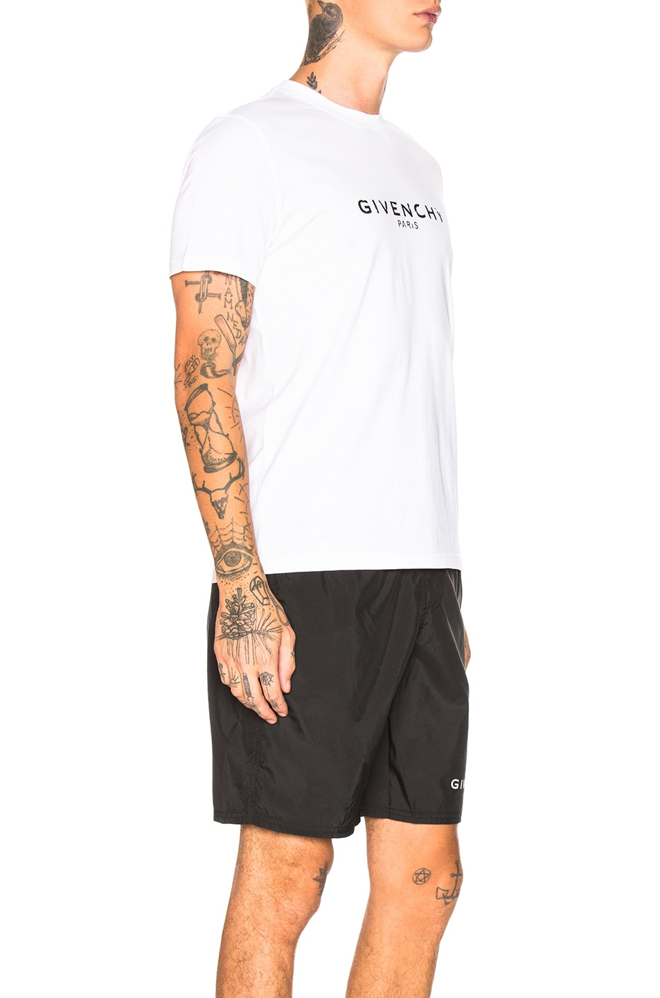 Image 2 of Givenchy Distressed Logo Tee in White
