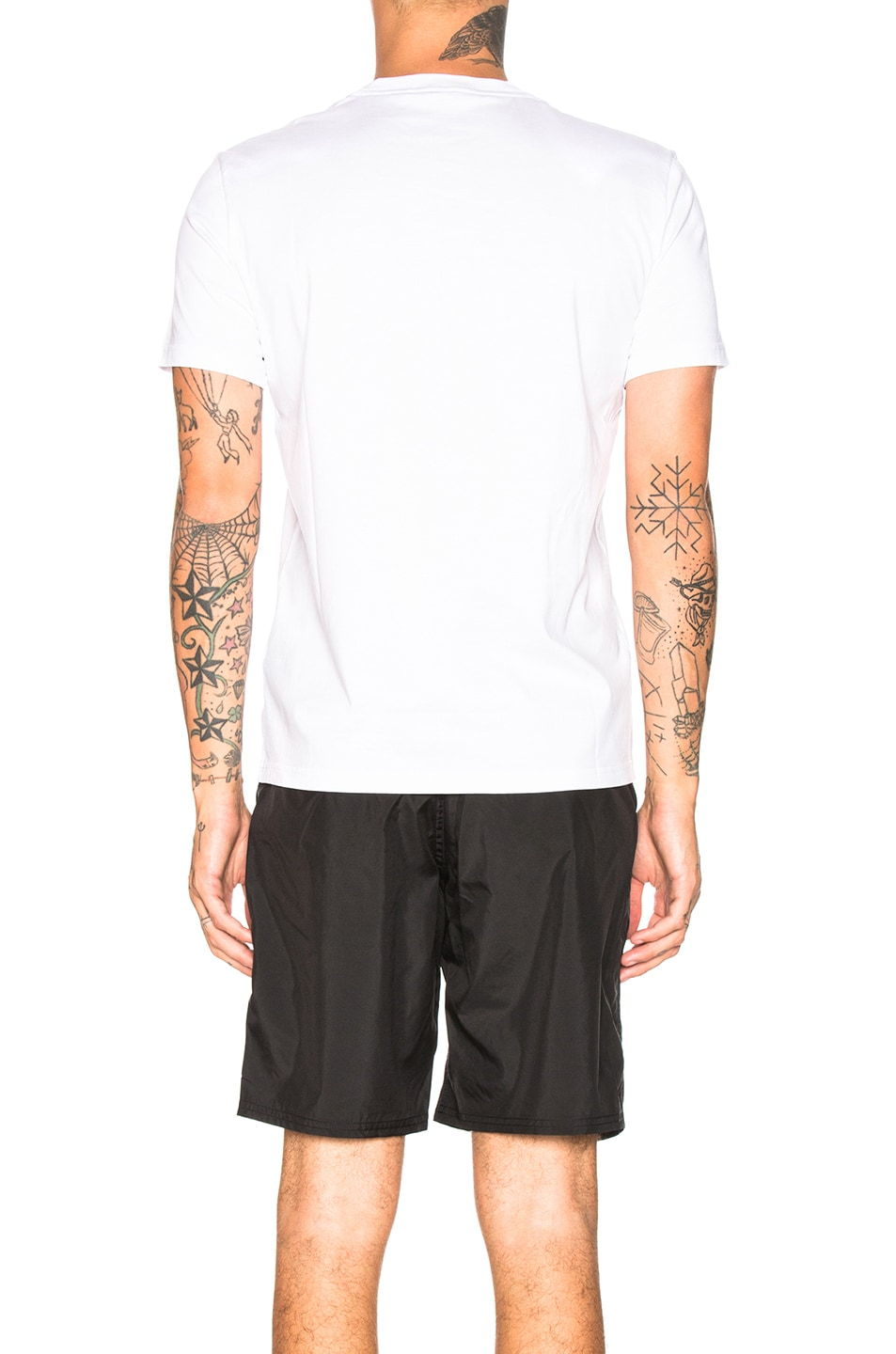 Image 3 of Givenchy Distressed Logo Tee in White
