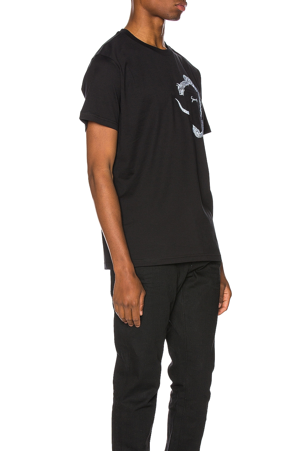 Image 2 of Givenchy Snake Pocket Tee in Black