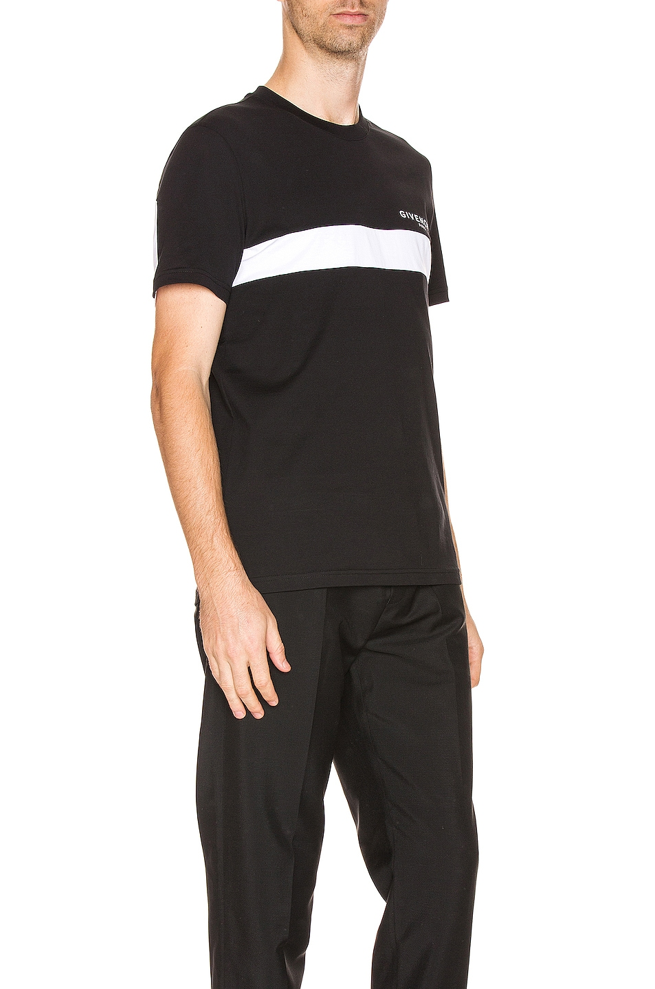 Image 3 of Givenchy Cut Out Tee in Black