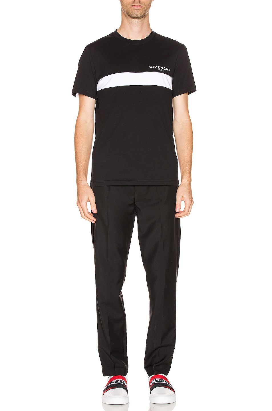 Image 6 of Givenchy Cut Out Tee in Black